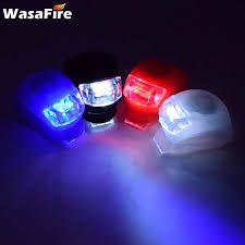 WasaFire 50pcs/lot <b>Silicone LED Bike</b> Light Mini Bicycle Front Rear ...