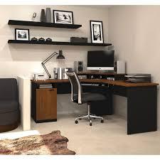 Bestar Hampton 1Drawer LShaped Corner Workstation  Tuscany BrownBlack  Desks U0026ampamp Workstations Best Buy Canada  W