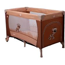 Купить <b>манеж</b>-<b>кровать COTO BABY</b> Samba Proste Коричневый в ...