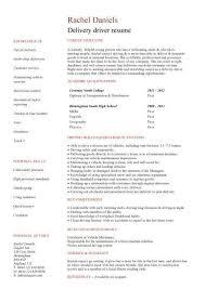 sample resume for catering driver   job application letter for    sample resume for catering driver amazing resume creator student cv template samples student jobs graduate cv