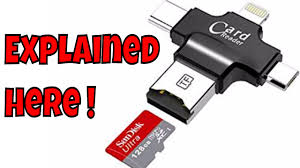 Micro <b>SD</b> Card Reader <b>4 in 1</b> USB C Micro Lightning Connector ...