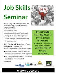 job skills seminar rupco fss job skills seminar flyer 2015