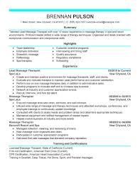 resume for massage therapist resume for massage therapist 1819