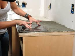 Kitchen Tile Countertop How To Install A Granite Tile Kitchen Countertop How Tos Diy