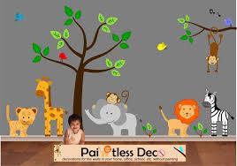 baby nursery decor classical harmless baby zoo animals nursery safe product strong durable vinyl mural baby nursery cool bee animal