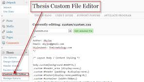 Thesis Custom File Editor