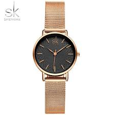 SK Super Slim Silver Mesh <b>Stainless Steel Watches</b> Women Top ...