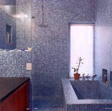 bathroom shower tile design color combinations: wonderful purple mosaic tiles bathroom design with wooden bath