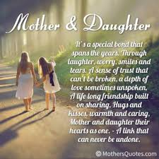 Inspirational Mother Daughter Quotes. QuotesGram via Relatably.com