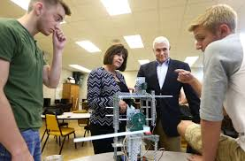 pence tours vocational classes at high school news pence at high school