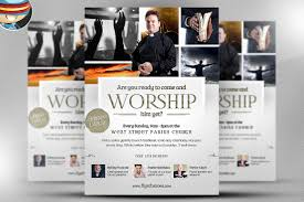 worship church christian flyer flyer templates on creative market