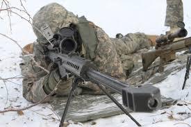 sniper in snow