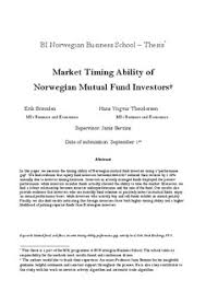 Market timing ability of Norwegian mutual fund investors