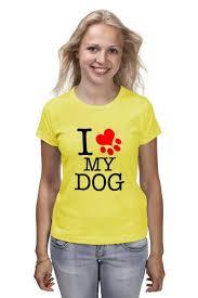 """<b>Футболка классическая</b> """"I love my <b>dog</b>"""" #1375453 от Svetulek2117 ..."""