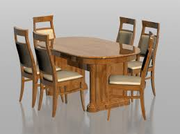 dining sets seater:  seater dining set d model dsmax files free download modeling
