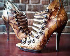 <b>Hand Painted Steampunk</b> Shoes - Wedding Shoes | <b>Steampunk</b> ...