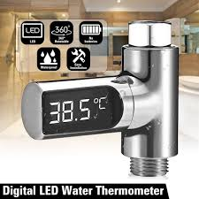 Loskii <b>LW</b>-<b>101</b> LED Display Home Water Shower Thermometer Flow ...