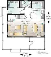 House plan W detail from DrummondHousePlans com    st level Small and affordable ski chalet  scandinavian style house plan  bedrooms