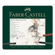 <b>Набор художественных</b> изделий <b>Faber</b>-<b>Castell</b> Pitt Monochrome ...