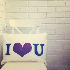 <b>Декоративная подушка</b> i love <b>you</b>   Ифф Текстиль Интернет ...