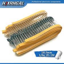<b>20pcs 3W</b> Metal film resistor 1% 1R ~ 1M 1R 4.7R 10R 22R 33R ...