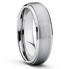 Silver Tungsten <b>Wedding Band</b>   Gray <b>Tungsten Rings</b>   Tungsten ...