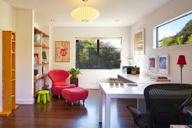 beautiful home office office trendy study room photo in san francisco with white walls dark beautiful office desks san
