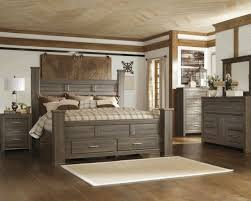 juararo storage poster bedroom set signature design by ashley dark grey brn bedroom colors brown furniture