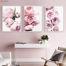Peony Print Floral Botanical Wall <b>Art</b> Pastel Pink Flowers <b>Poster</b> ...