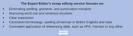 essay editing essay editing services the expert editor provides an ethical service that in no way contravenes a university s rules or guidelines on written work therefore we focus on improving