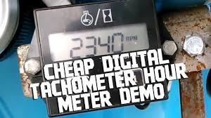 Cheap <b>Digital Tachometer Hour</b> Meter - YouTube