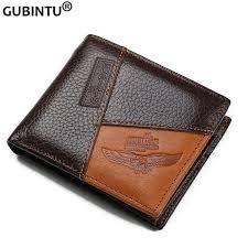 <b>Genuine</b> Leather <b>Men</b> Wallets Coin Pocket <b>Zipper Real</b> Leather ...