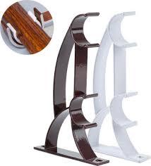 <b>Double</b> Rod Holder Curtain Pole Bracket Heavy Duty <b>Metal</b> ...