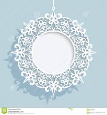 christmas ball round cutout paper frame template stock vector christmas ball round cutout paper frame template
