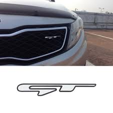 <b>3Pcs</b> GT Line Logo Badge <b>3D Car</b> Sticker For KIA Optima K5 Stinger ...