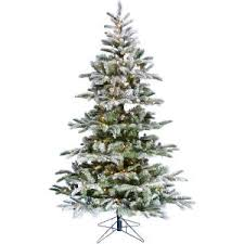 Fraser Hill Farm 6.5 ft. Pre-Lit <b>LED Nordic</b> Frost Frosted Green Slim ...