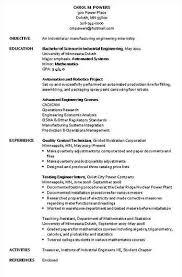 Engineering CV template  engineer  manufacturing  resume  industry