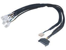 <b>Кабель</b>-разветвитель <b>Akasa Flexa</b> FP5S Smart PWM Black ...