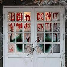 Angshop <b>2PCS Halloween</b> Creepy Giant Bloody Window Posters ...
