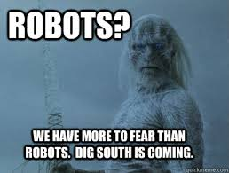 Agitated White Walkers memes | quickmeme via Relatably.com