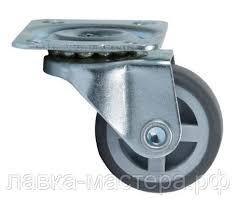 <b>Колесо поворотное на площадке</b> D-30 мм, серая резина NF-04 ...