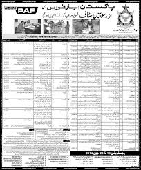 employment opportunities in air force pk air force jobs