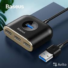 Адаптер <b>Baseus Square</b> Round 4 in 1 <b>USB</b> HUB купить в ...