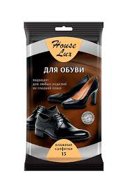 <b>Салфетки влажные</b> Авангрд для <b>обуви</b> House Lux for <b>shoes</b> 15 шт ...