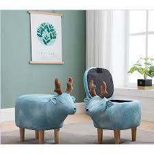 <b>Creative</b> Sofa Makeup <b>Stool</b> Home Storage <b>Solid Wood Stool</b> ...