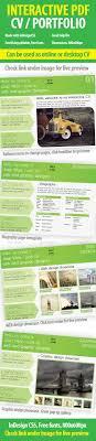 cleanses fonts and colors interactive cv portfolio pdf indesign template portfolio brochures source