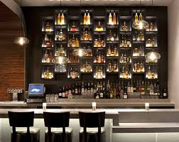 view in gallery vesu restaurant bar with backlighting bar lighting ideas