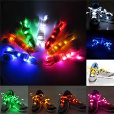 <b>1 Pair Nylon</b> LED Flashing Light Up Glow Shoelace Sale ...