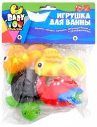 """""""<b>Набор для купания</b> """"Рыбки, рак, черепаха"""" 4 штуки (EL1212 ..."""