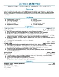 business analysts resume example resume format and sample